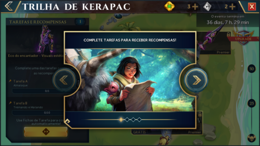 Trilha de Kerapac interface introdutória 1.png