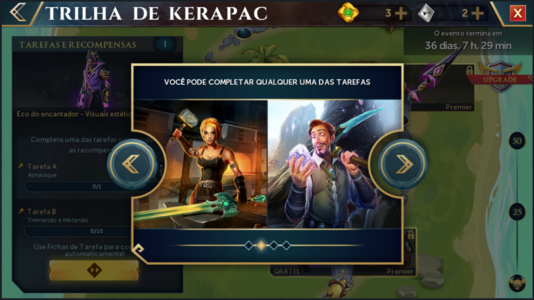 Trilha de Kerapac interface introdutória 2.png